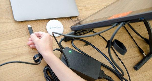 Huion Grafiktablett Kamvas 22 im Test - zwei einfache Verbindungsmodi