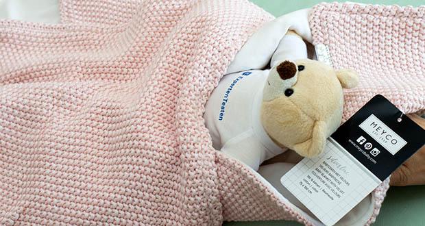Meyco gestrickte Babydecke Winter im Test - wird sie und Ihr Kind immer sicher begleiten
