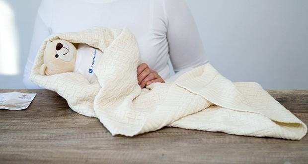 Sonnenstrick Babydecke im Test - dank diesen natürlichen Eigenschaften können Sie diese Baby-Decke sowohl im Sommer als auch im Winter verwenden