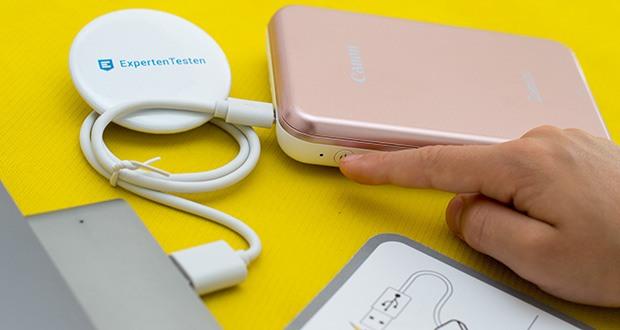 Canon Zoemini Mini Fotodrucker im Test - personalisierte 5 x 7, 5 cm (2 x 3 Zoll) Fotoprints/-sticker können direkt vom kompatiblen Handy, Tablet oder Social Media-Apps ausgedruckt
