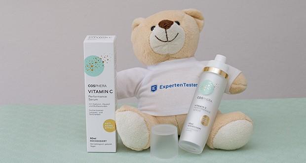 Cosphera Vitamin C Performance Serum im Test - zertifiziert nach GMP und ISO 9001; hergestellt in Deutschland