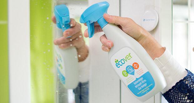 Ecover Glas- und Fenster-Reiniger im Test - stark gegen Fettspuren dank kraftvoller Bio-Tenside