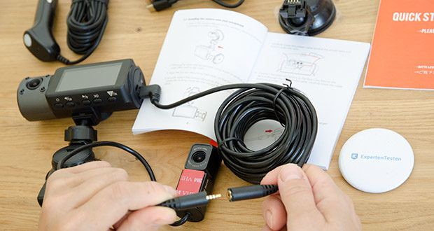 VANTRUE N4 3 Lens Dashcam im Test - 24/7 Überwachung (alle Zeiten) kann mit Hardwire Kit durchgeführt werden und liefert den Unterspannungsschutz, bevor das Akku leer ist