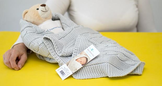 Wallaboo Babydecke Noa im Test - man kann die Babydecke überall hin mitnehmen, vor allem im Kinderwagen oder im Maxi-cosi