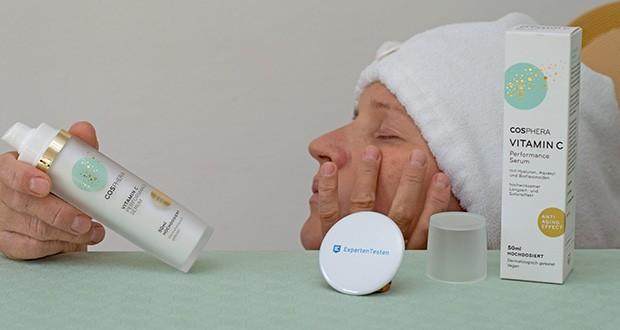Cosphera Vitamin C Performance Serum im Test - eine optimale Wirkung wird erzielt, wenn Sie dieses Pflege-Serum sowohl am Tag als auch in der Nacht verwenden