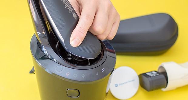 Philips S9711/31 Elektrischer Nass-und Trockenrasierer im Test - die drei Komforteinstellungen (normal, gründlich, schnell) ermöglichen eine personalisierte Rasur