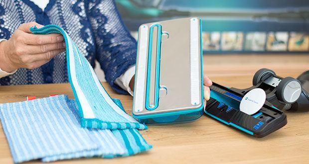 Philips XC8147/01 SpeedPro Max Aqua Staubsauger mit Wischfunktion im Test - das integrierte Zubehör (umklappbare Bürste und Fugendüse) sorgt für eine Reinigung ohne Unterbrechen
