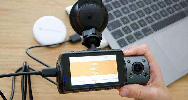 VANTRUE N4 3 Lens Dashcam im Test - unterstützt max. 256GB Karte, die Kartengeschwindigkeit muss U3 oder höher sein
