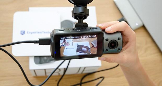 VANTRUE N4 3 Lens Dashcam im Test - die Innenkamera mit 165° F2.0 vergrößert jedes Detail im Auto
