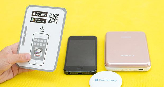 Canon Zoemini Mini Fotodrucker im Test - verbinden Sie Ihr Smartphone oder Tablet per Bluetooth mit dem Canon Zoemini und Sie können Ihre Lieblingsfotos sofort ausdrucken