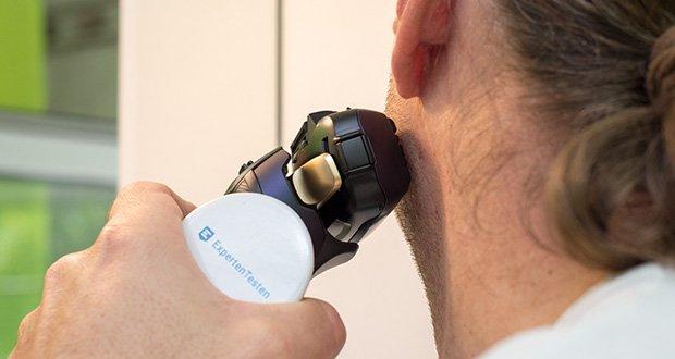 Panasonic ES-LV67-A803 Nass/Trocken-Rasierer im Test - unnötiger Druck und Reizungen werden verhindert und zudem von messerscharfen 30 Klingen unterstützt, die präzise und hautnah über den Bart gleiten
