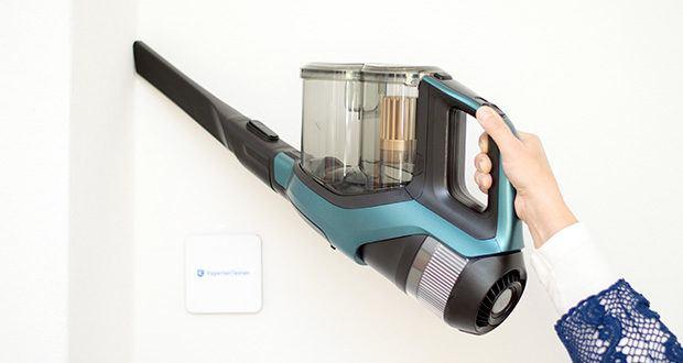 Philips XC8147/01 SpeedPro Max Aqua Staubsauger mit Wischfunktion im Test - im Turbo-Modus können Sie mit einer Ladung (28 Min.) mehr als 125 m² reinigen