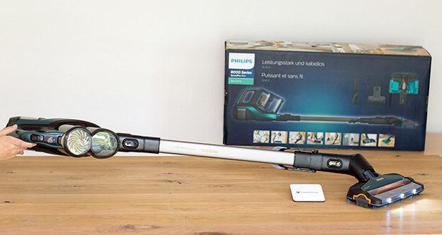 Philips XC8147/01 SpeedPro Max Aqua Staubsauger mit Wischfunktion im Test - gleichzeitiges Saugen und Wischen ermöglicht das Entfernen von Staub, Schmutz und Flecken in einem Arbeitsgang