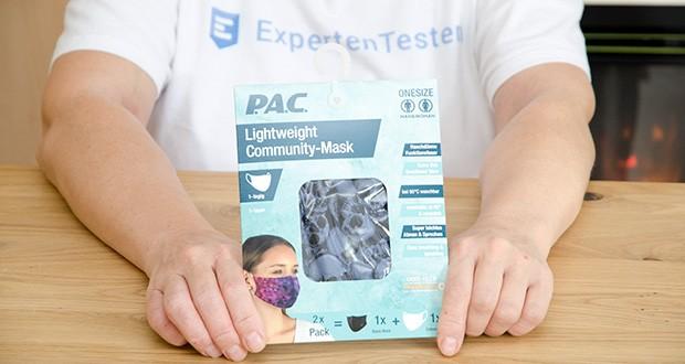 P.A.C. Community Lightweight Maske Adult im Test - Material: 86% Polyester, 14% Elasthan