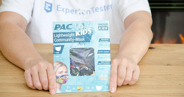 P.A.C. Community Lightweight Maske Kids im Test - Material: 86% Polyester, 14% Elasthan