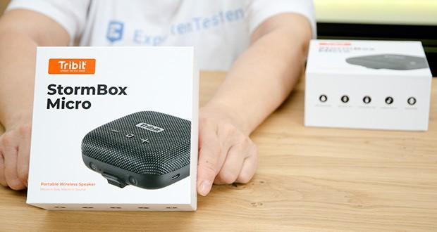 Tribit Stormbox Micro Bluetooth Lautsprecher im Test - ausgestattet mit der exklusiven, integrierten XBass-Tuning-DSP-Technologie
