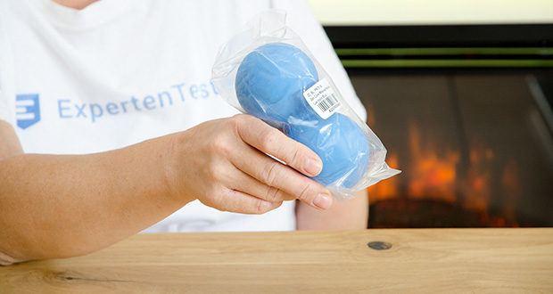 Zen Core Massage Duoball im Test - Abmessungen: 13 x 6 cm; Gewicht: 310 g
