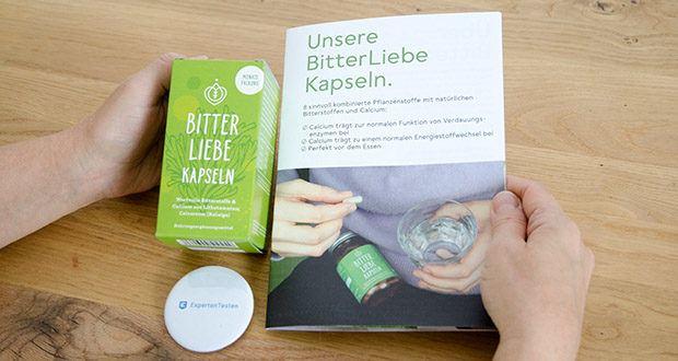 BitterLiebe Kapseln 90 Stk im Test - enthalten nur die wertvollsten Bitterstoffe aus 7 erlesenen Naturkräutern und der Rotalge mit dem Plus an Calcium