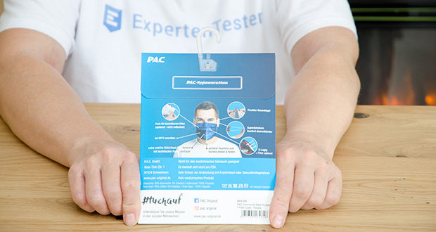 P.A.C. Premium Community Maske Adult im Test - ist bei 90° waschbar und somit mehrfach verwendbar