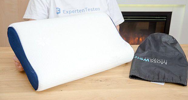 Mosswell ergonomisches Nackenstützkissen im Test - ist 50 cm breit und 30 cm lang
