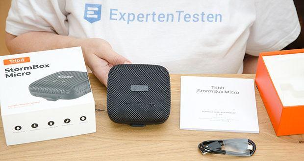 Tribit Stormbox Micro Bluetooth Lautsprecher im Test - bietet die perfekte Kombination aus robustem, unverwüstlichem Gehäuse und einem, für seine Größe bemerkenswerten, ausgeglichenen Klang