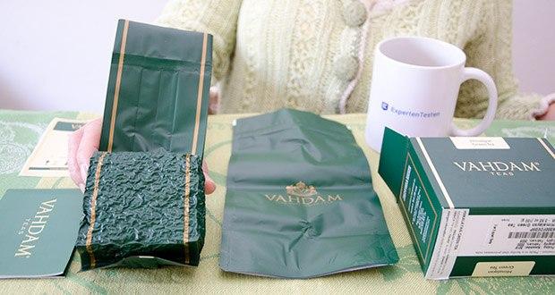 VAHDAM Grüne Teeblätter aus dem Himalaya im Test - 100% natürlicher 14 Tag Detox Tee
