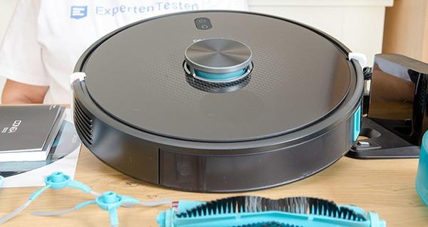 Cecotec Conga 5490 Saugroboter im Test - führt dank des optischen Sensor eine geordnete Reiniung Linealweise durch. Dieser Sensor verbessert die Lokalisierung des Roboters