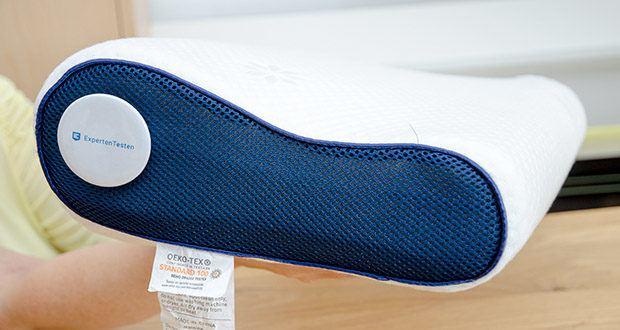 Mosswell ergonomisches Nackenstützkissen im Test - ergonomische Form