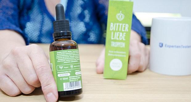 BitterLiebe Bitterstoffe Tropfen im Test - hergestellt und produziert in Deutschland
