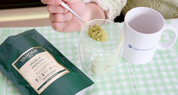 VAHDAM Vanille Matcha Grüntee Pulver im Test - aus angesehenen Plantagen in den Städten Honyama und Kawane in der Präfektur Shizuoka, die für die Herstellung des besten Matcha der Welt bekannt ist