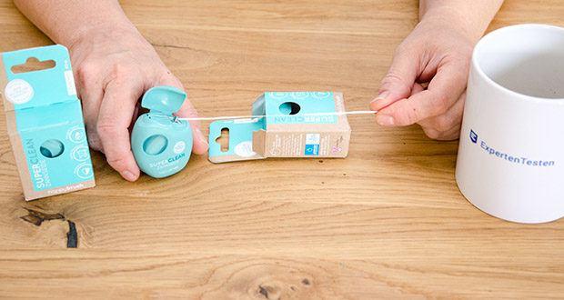 happybrush Zahnseide SUPERCLEAN im Test - antibakterieller Wirkstoff kümmert sich heldenhaft um Plaque