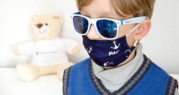 P.A.C. Premium Community Maske Kids im Test - das 3lagige Innenmaterial ist besonders weich und sorgt für ein sehr angenehmes Tragegefühl auf der Haut