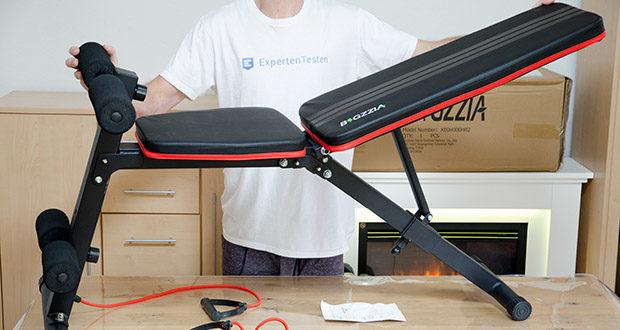 Bigzzia verstellbare Hantelbank im Test - verfügt über 7 Rückenlehnenpositionen, um alle Ihre Bedürfnisse beim Training zu erfüllen