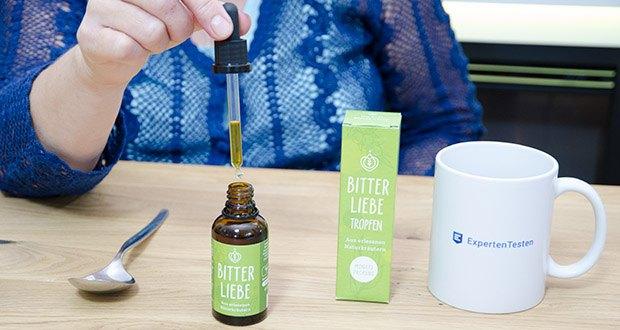BitterLiebe Bitterstoffe Tropfen im Test - 100% natürliche Inhaltsstoffe; vegan und tierversuchsfrei
