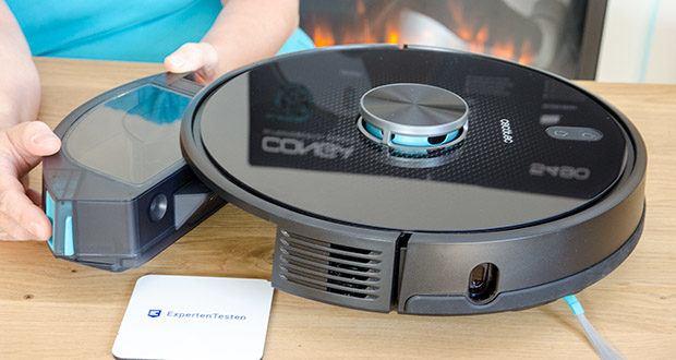Cecotec Conga 5490 Saugroboter im Test - enthält einen Mischbehälter mit großem Fassungsvermögen