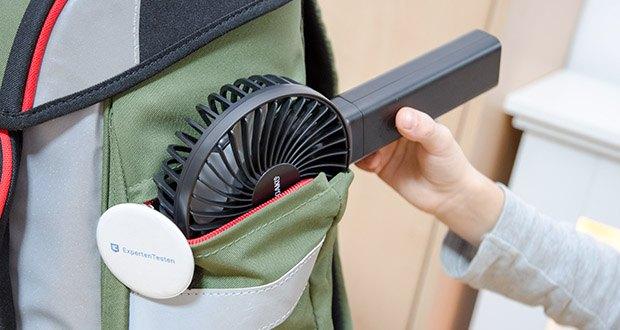 GAGAKU Mini Akku Handventilator im Test - es ist perfekt für Outdoor-Aktivitäten wie Fußballwettkämpfe, reisen, wandern, klettern, Camping usw.