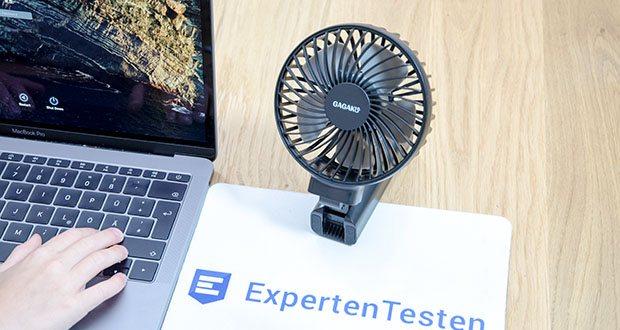GAGAKU Mini Akku Handventilator im Test - es ist perfekt für persönliche Aktivitäten, Büro, Zuhause usw.