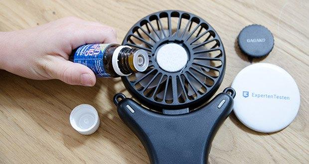 GAGAKU Mini USB Ventilator im Test - Sie können eine kühle Brise mit einem guten Geruch genießen, während sie in der menge gehen oder warten, indem sie ätherische Öle oder Parfüm auf Aromatherapie-Pads geben