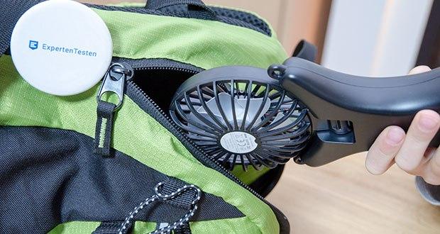 GAGAKU Mini USB Ventilator im Test - kann leicht überall mitgenommen werden