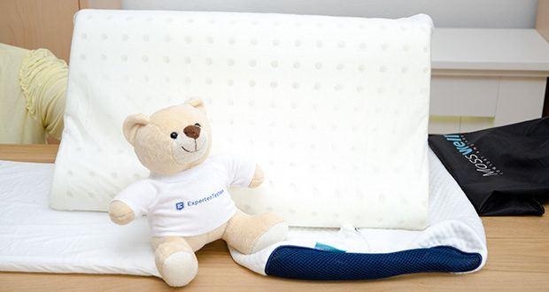 Mosswell ergonomisches Nackenstützkissen im Test - der weiche Memory Foam reagiert auf Ihre Körperwärme und unterstützt Ihren Nacken in der Nacht