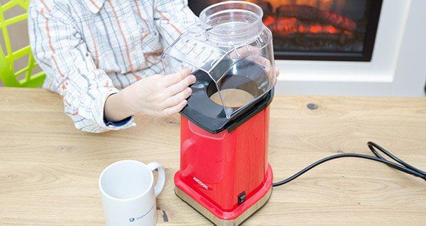 Aicook Popcornmaschine 1400W im Test - großer Deckel