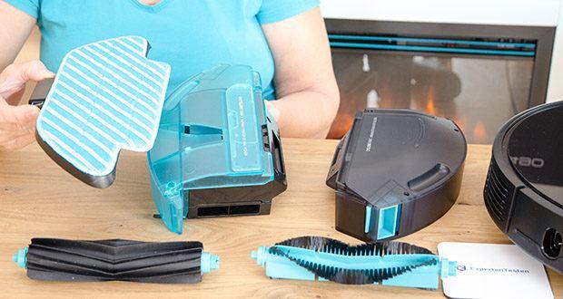 Cecotec Conga 5490 Saugroboter im Test - Twin Floor Wischtuch aus zwei Materialen, um eine professionelle Reinigung bei jeder Art Oberfläche