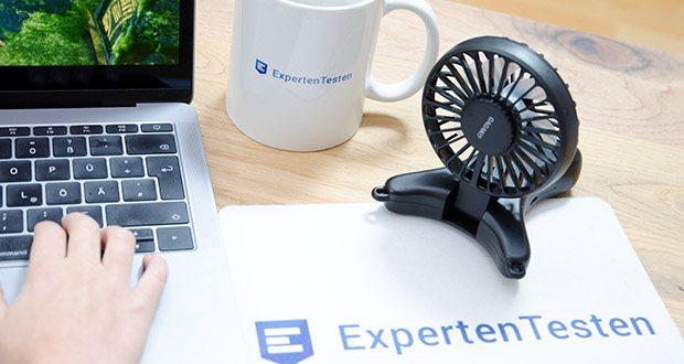 GAGAKU Mini USB Ventilator im Test - kann um 110 grad eingestellt werden und bietet einen geeigneten Winkel entsprechend ihrer Position oder Bewegungen