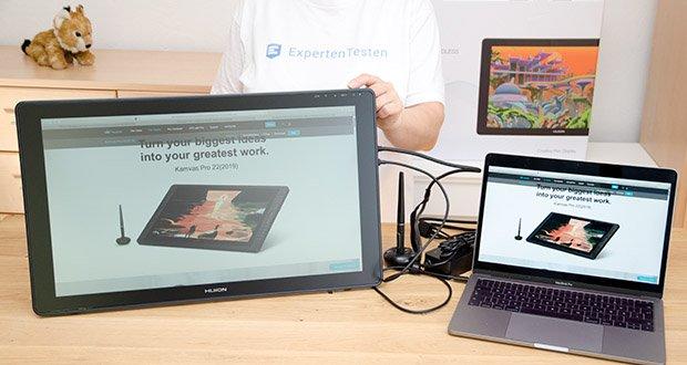 Huion Grafiktablett Kamvas 22 im Test - kompatibel mit Windows, MacOS, Android (USB3.1 GEN1), Unterstützung für die Verbindung mit Computer, Mobiltelefon und Tablet