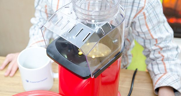 Aicook Popcornmaschine 1400W im Test - arbeitet mit heißer Luft, ohne Öl