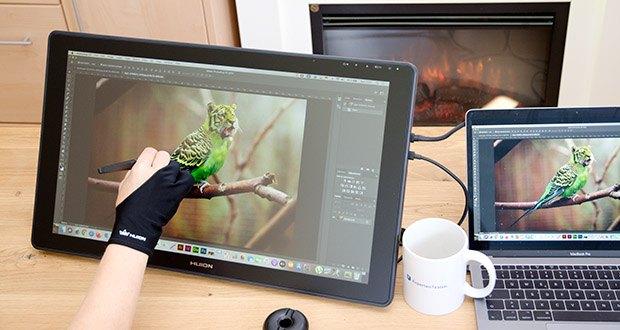 Huion Grafiktablett Kamvas 22 im Test - mit extra breitem Farbumfang von 120% sRGB