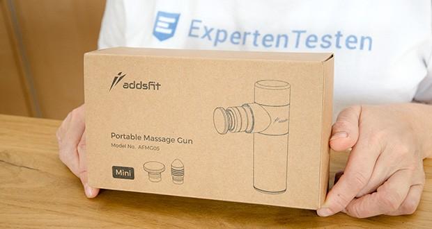 addsfit Massagepistole Mini im Test - dies ist die kleinste, die bisher leichteste, handlichste Massagepistole auf dem Markt