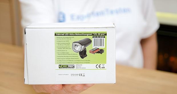 Chilitec Fahrrad LED-Beleuchtungsset CFL 30 pro im Test - zu hoch attraktivem Preis