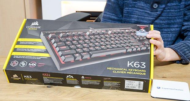 Corsair K63 Mechanische Gaming Tastatur im Test - 100 Prozent Anti-Ghosting und Tasten-Rollover sorgen dafür, dass Ihre Befehle und Ihre gleichzeitigen Tastenanschläge immer wie beabsichtigt erkannt werden