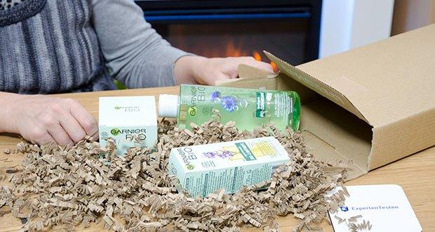 Garnier Bio Naturkosmetik Gesichtspflege Set im Test - umweltfreundliche Geschenk-Box